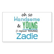 Handsome and Young Zadie Rectangle Decal