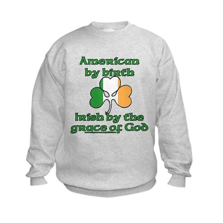 Funny Irish American Joke Kids Sweatshirt