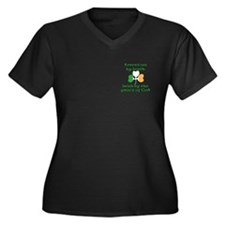 Funny Irish American Joke Women's Plus Size V-Neck