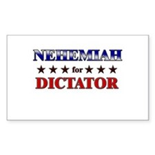 NEHEMIAH for dictator Rectangle Decal