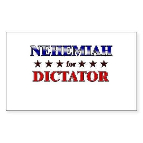 NEHEMIAH for dictator Rectangle Sticker