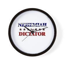 NEHEMIAH for dictator Wall Clock