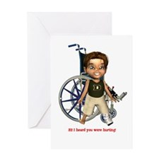 Karlo Broken Left Leg Greeting Card