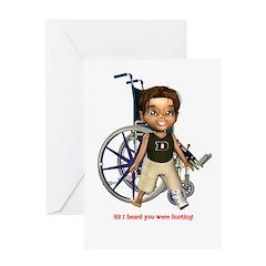 Karlo Broken Left Leg Greeting Card