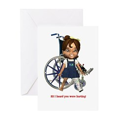 Katrina Broken Left Leg Greeting Card