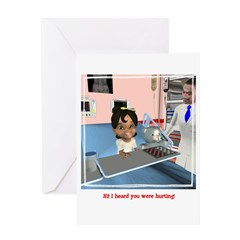 Katrina Sick Greeting Card