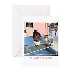Katy Sick Greeting Card