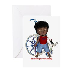 Keith Broken Left Arm Greeting Card