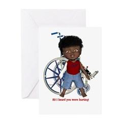 Keith Broken Right Arm Greeting Card