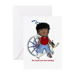 Keith Broken Right Leg Greeting Card