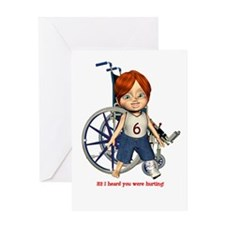 Kevin Broken Left Leg Greeting Card