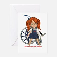 Kit Broken Left Arm Greeting Card