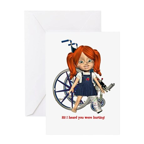 Kit Broken Left Leg Greeting Card