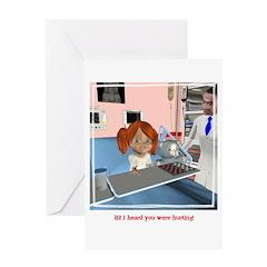 Kit Sick Greeting Card