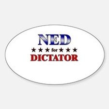 NED for dictator Oval Decal