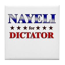 NAYELI for dictator Tile Coaster