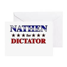 NATHEN for dictator Greeting Card