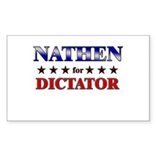 NATHEN for dictator Rectangle Decal