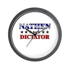NATHEN for dictator Wall Clock