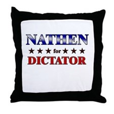 NATHEN for dictator Throw Pillow