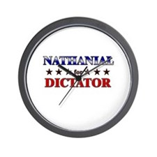 NATHANIAL for dictator Wall Clock