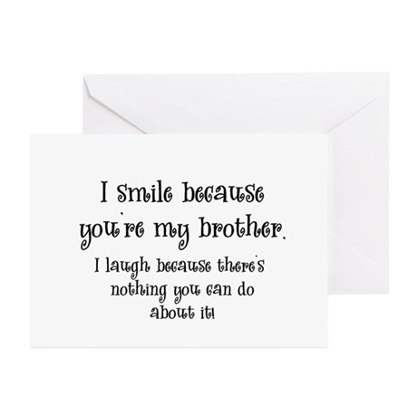 Because You're My Brother Greeting Cards (Pk of 10
