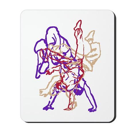 Purple, beige, red breakdance Mousepad