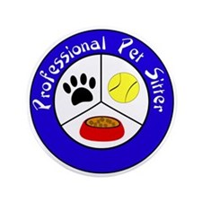 "Professional Pet Sitter Crest 3.5"" Button"