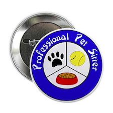 """Professional Pet Sitter Crest 2.25"""" Button"""