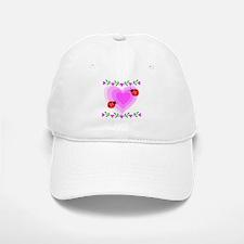 Hearts and Ladybugs Baseball Baseball Cap