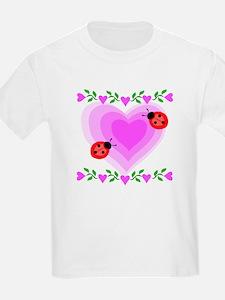 Hearts and Ladybugs T-Shirt