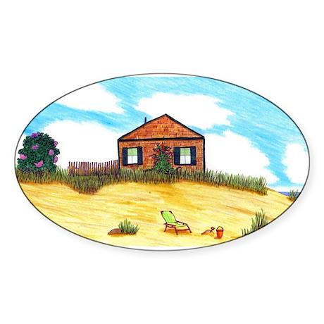 Cape Cod Oval Sticker