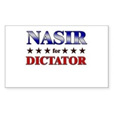 NASIR for dictator Rectangle Decal