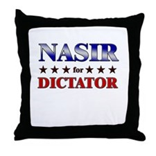 NASIR for dictator Throw Pillow