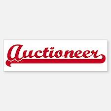 Auctioneer (sporty red) Bumper Bumper Bumper Sticker