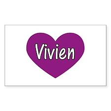 Vivien Rectangle Decal
