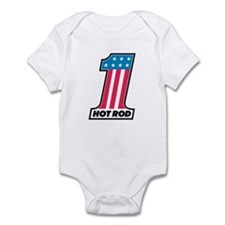 Number One Hot Rod Infant Bodysuit