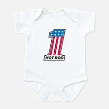 Number One Hot Rod Infant Bodysuit