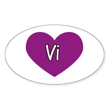 Vi Oval Sticker