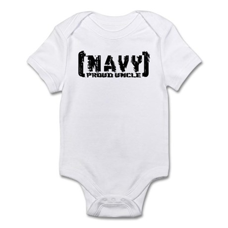 Proud NAVY Uncle - Tattered Style Infant Bodysuit
