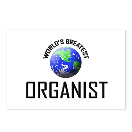 World's Greatest ORGANIST Postcards (Package of 8)