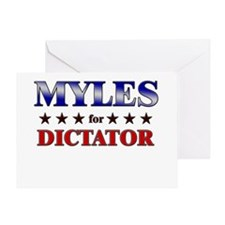 MYLES for dictator Greeting Card