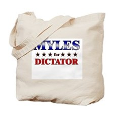 MYLES for dictator Tote Bag