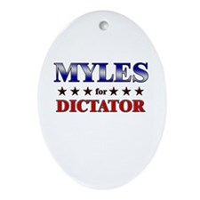MYLES for dictator Oval Ornament