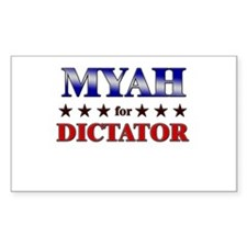 MYAH for dictator Rectangle Decal