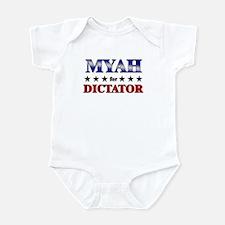 MYAH for dictator Infant Bodysuit