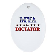 MYA for dictator Oval Ornament
