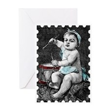 Little Drummer Baby Greeting Card