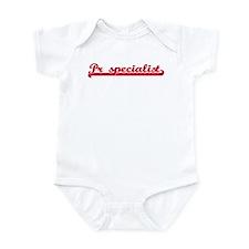 Pr specialist (sporty red) Infant Bodysuit