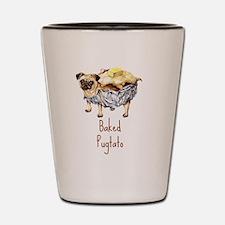 Unique Funny puggle Shot Glass